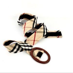 Accessories - Nova Check Print Cotton belt